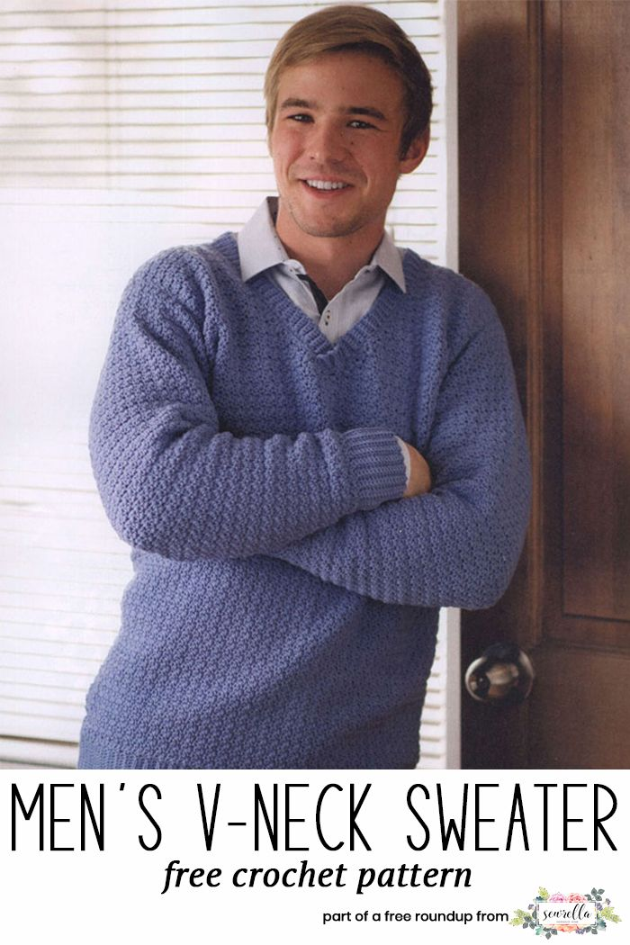 Husband approved free crochet sweater patterns free crochet free get the free crochet pattern for this crochet mens v neck pullover sweater from knitted dt1010fo
