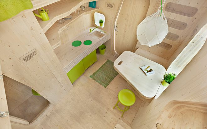 Smart Student Flat by Tengbom Architects #student #spaziminimi #sostenibilità #smartspaces #compactliving #eco
