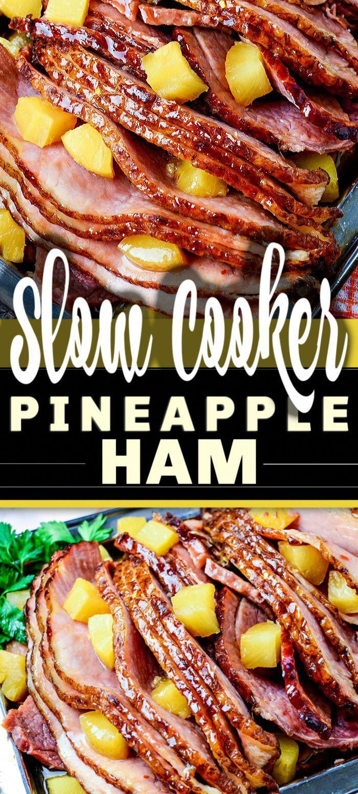 Slow Cooker Ham is a classic and iconic meal, yet there's so many variations on this recipe. Here is my go-to for the best SLOW COOKER BROWN SUGAR PINEAPPLE HAM ever, easy to make with just 5 ingredients - and so delicious!   #ham #slowcooker #thanksgiving #christmasdinner #pineappleham #MyHealthNutrition