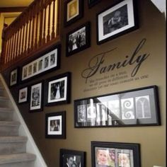 Decorating Ideas For Wall Going Up Stairs Google Search