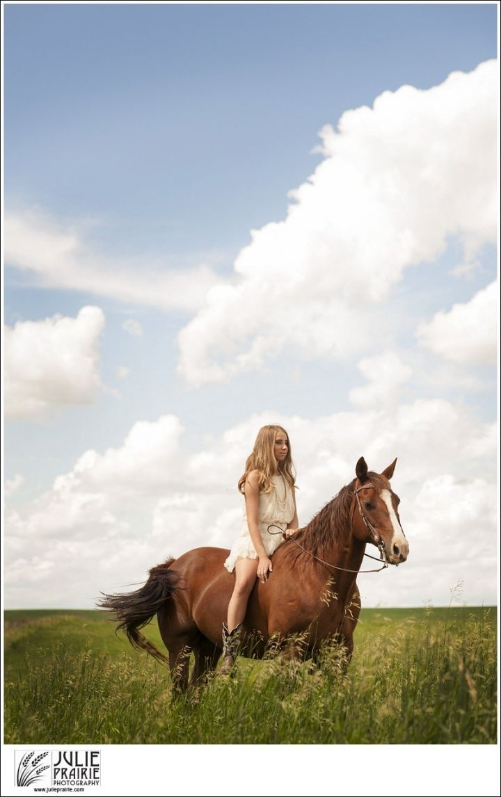 Equine Portrait Session - Sioux Falls Senior Portraits - A beautiful girl with her horse on a gorgeous summer day!