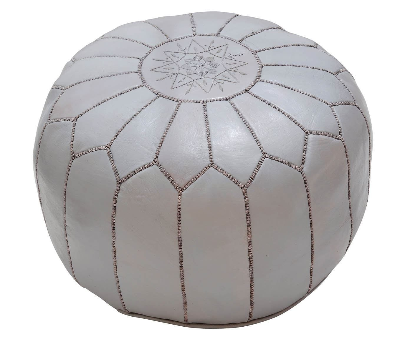 Leder Pouf handgefertigter leder pouf tassira for the home