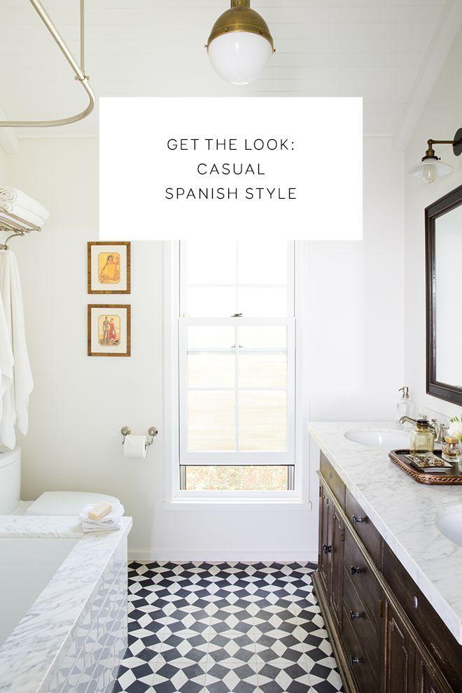 Spanish Tile Black And White Bathroom Ideas Uk Bathroom Essentials Stylish Bathroom