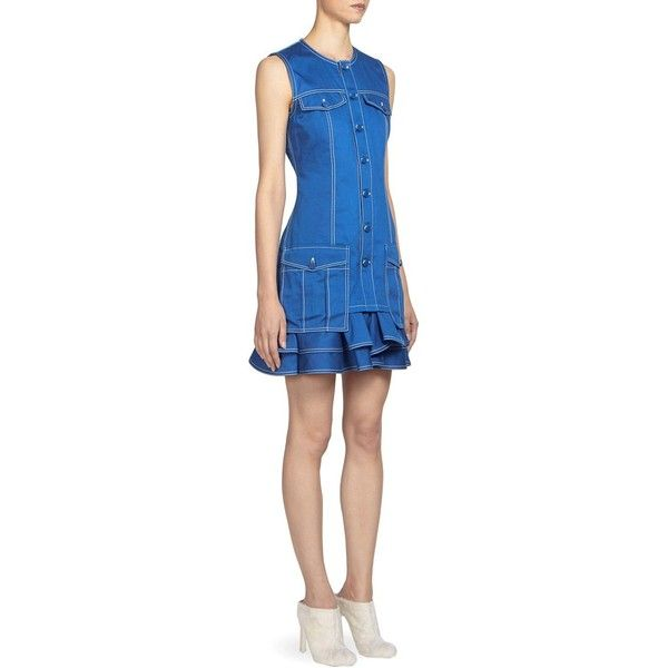 Blue dress with ruffles Givenchy pLRdN02N