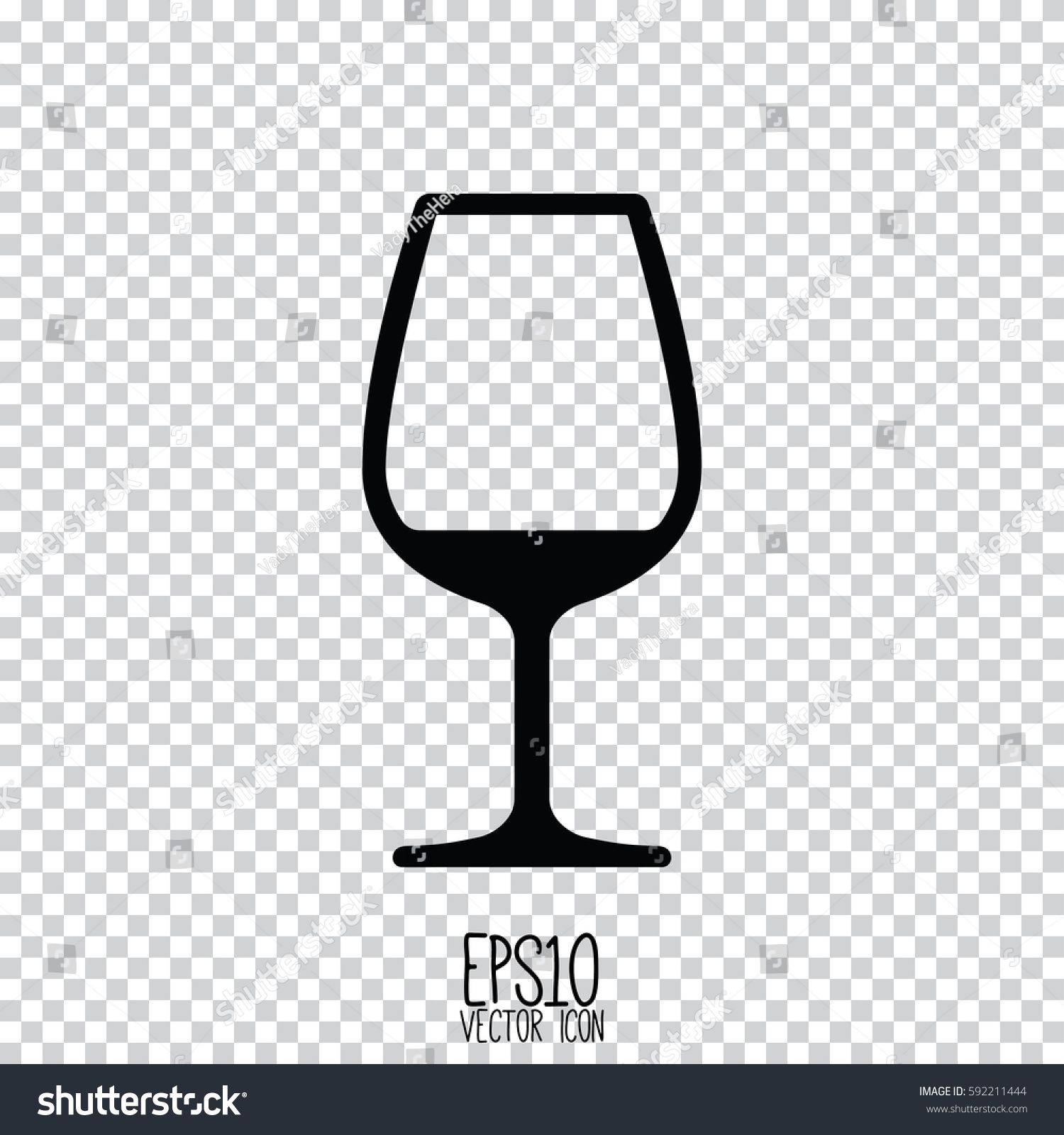 Wine Glass Icon Flat Style For Graphic And Web Design Modern