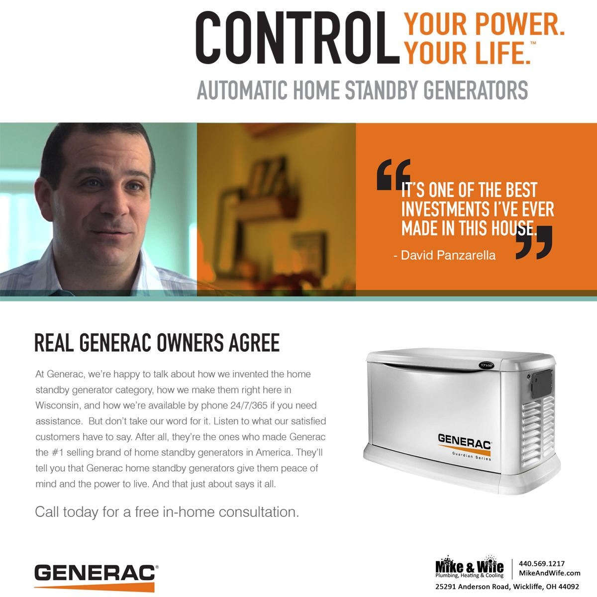 Installing A Whole House Generator Will Greatly Increase The Value