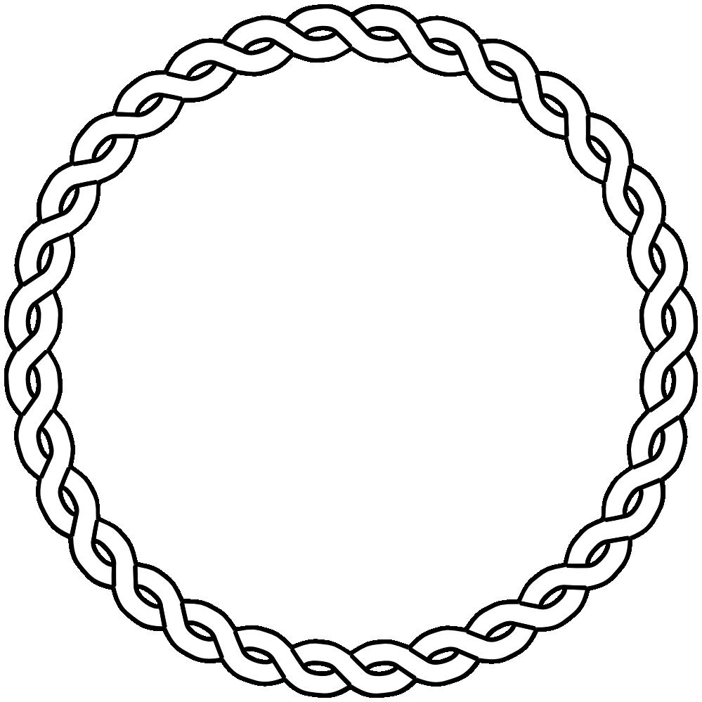 Nautical Rope Border Rope Border Circle Dna Black White Line Art Coloring Book Colouring Cerceve Desenler Cerceveler