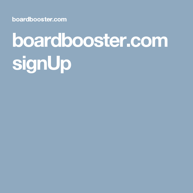 boardbooster.com signUp
