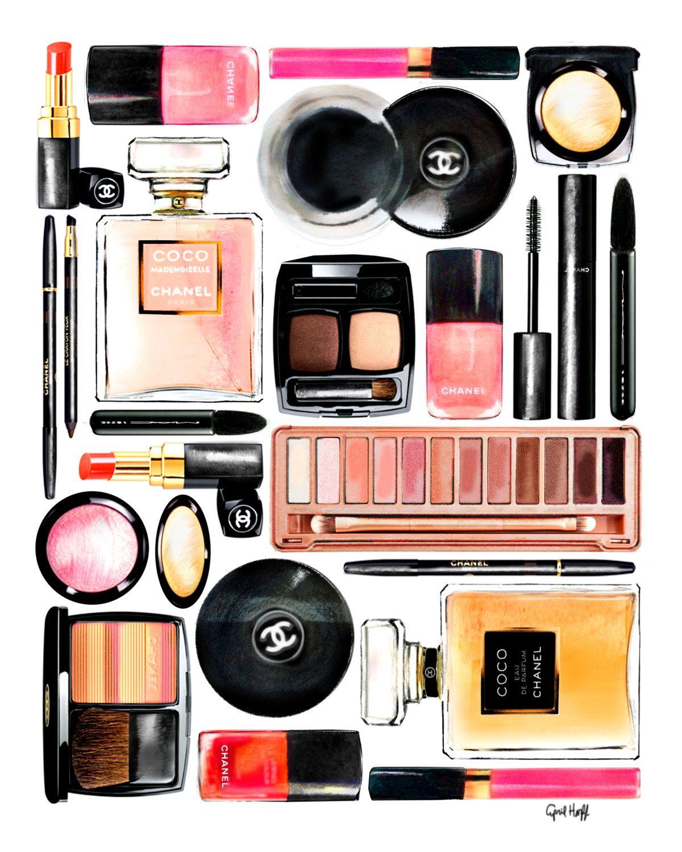 NEW Chanel Collage Makeup Print | Fashion Illustration, Louis ...