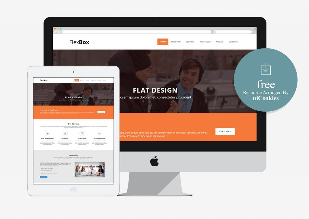 Flexbox - Corporate Free Bootstrap HTML5 Web Template | 100+ Best ...