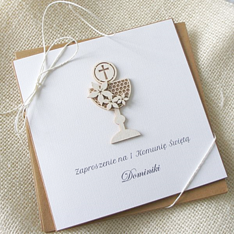 Eko Eleganckie Zaproszenie Na Komunie Wz 2 First Holy Communion Place Card Holders Cards