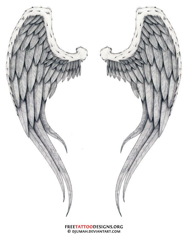 Angel Tattoos For Women | The most popular spot for angel wing ...
