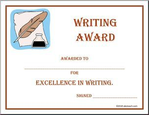 Certificate writing award awarded to for excellence in certificate writing award awarded to for excellence in writing yadclub Images
