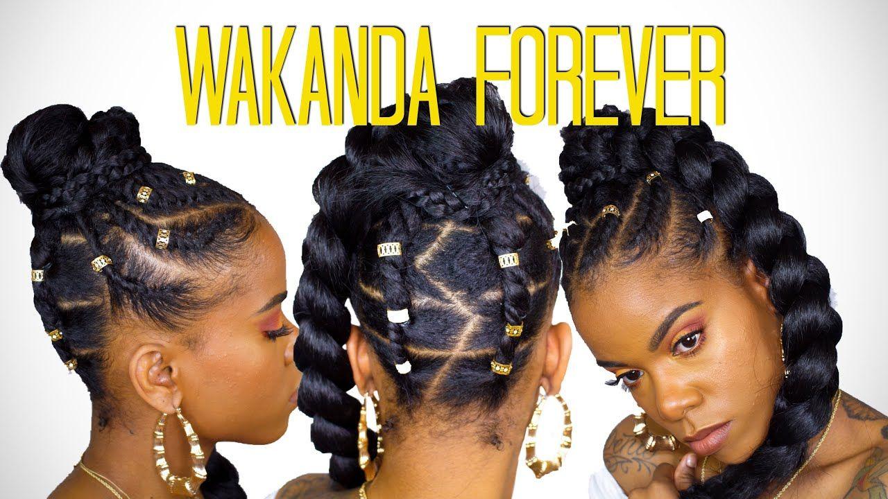 BLACK PANTHER INSPIRED UPDO   NATURAL HAIR   QUIESHA JAY   Natural hair styles, Natural diva ...