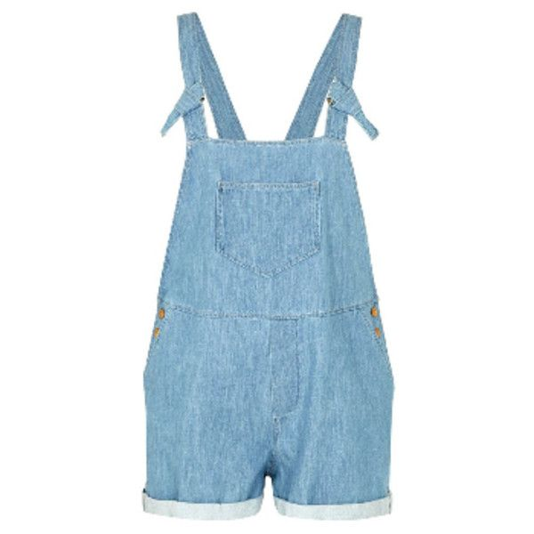 Des Petits Hauts Ciel Onalie Playsuit ($155) ❤ liked on Polyvore featuring jumpsuits, rompers, blue romper, playsuit romper, short romper, summer romper and blue rompers