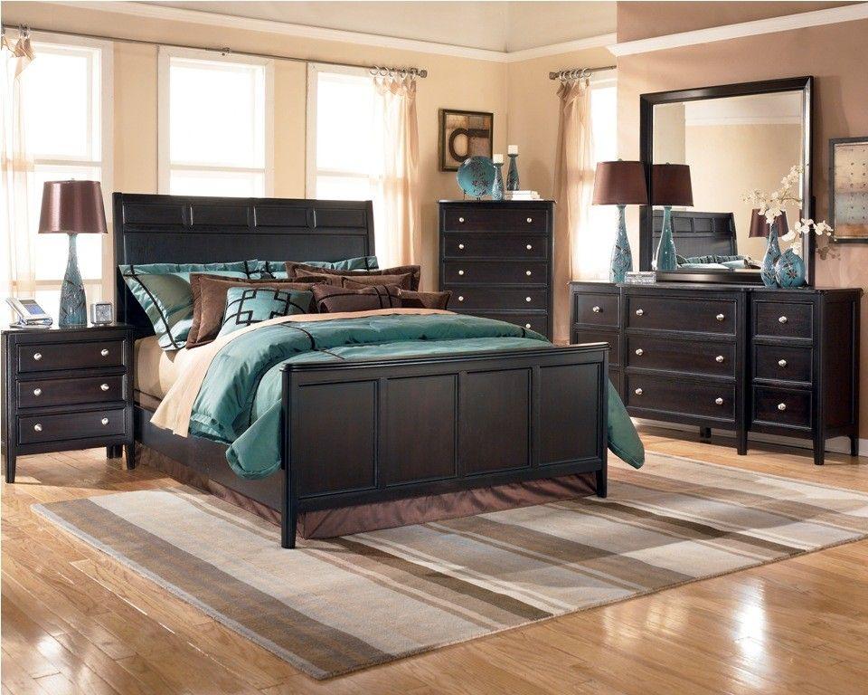 Ashley Carlyle Panel Bedroom Set B371 Black Bedroom Furniture