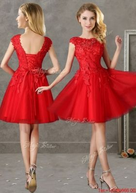 dark red short prom dress with sleeves - Google Search | PROM ...