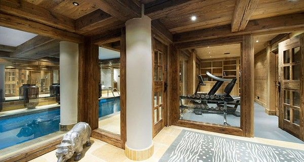 Luxury Chalet Design Ideas : Modern Home Gym Design At Le Petit ...