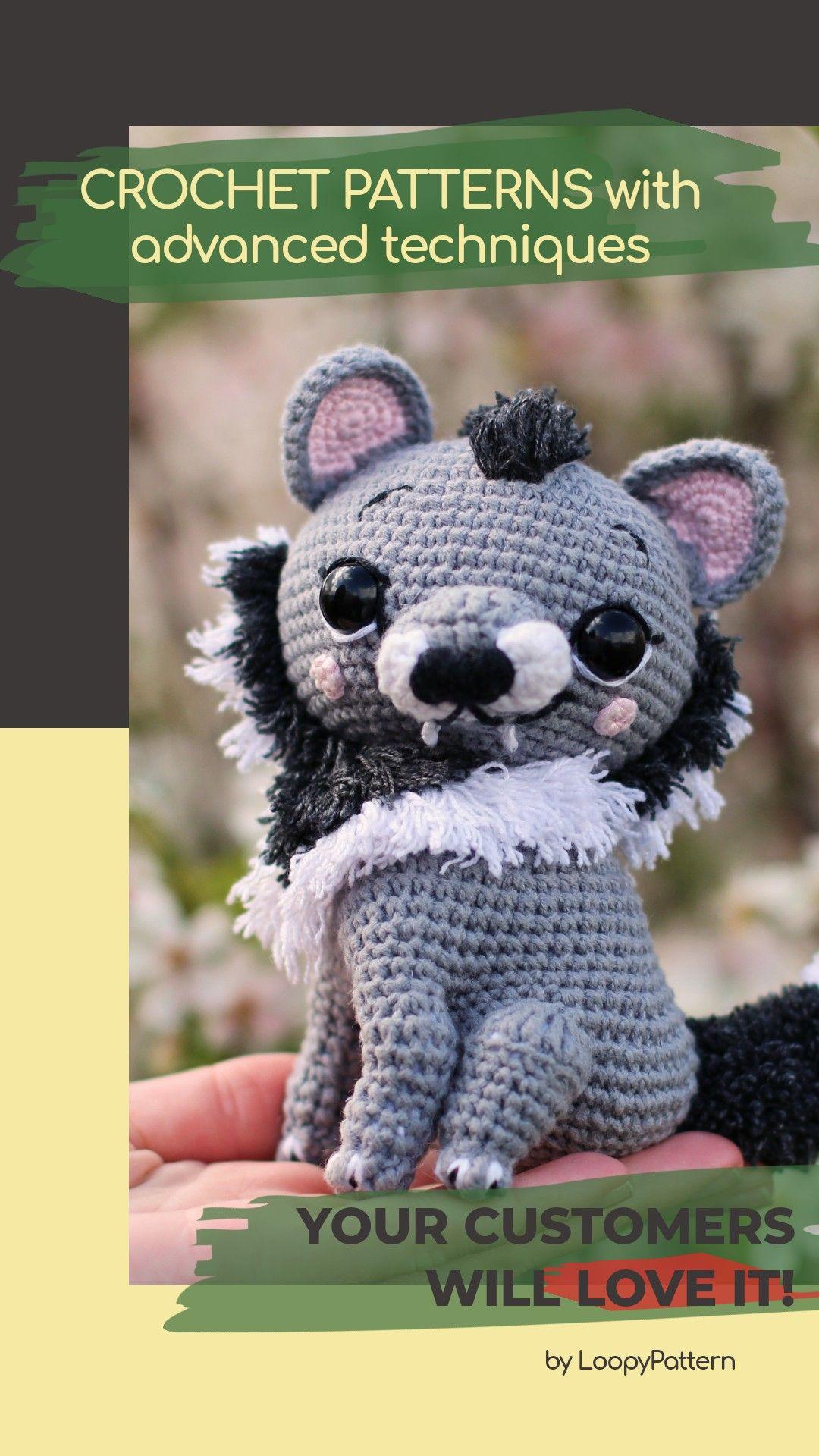 """Amigurumi – Crochet Lovely Wolf """"Diego"""" - premium & free patterns ...   1920x1080"""