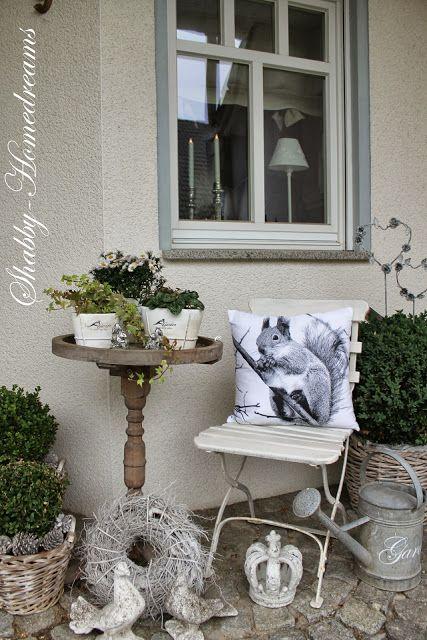 shabby homedreams gartendeko pinterest shabby gardens and balcony gardening. Black Bedroom Furniture Sets. Home Design Ideas