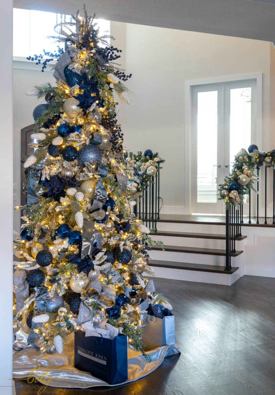 Residential Christmas | Baker Design Group -   17 christmas tree decor 2020 blue ideas
