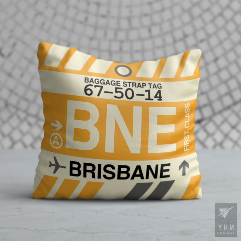 BNE Brisbane Pillow • Airport Code ...