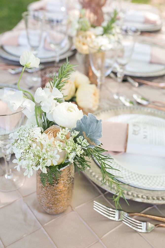 Mixed Metal & Orchard Allure Styled Shoot on WellWed.com | Photography: Simply K Studios