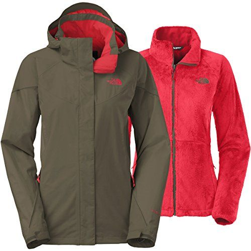 826db7152 North Face Boundary Triclimate Jacket Womens Taupe Green Melon Red ...