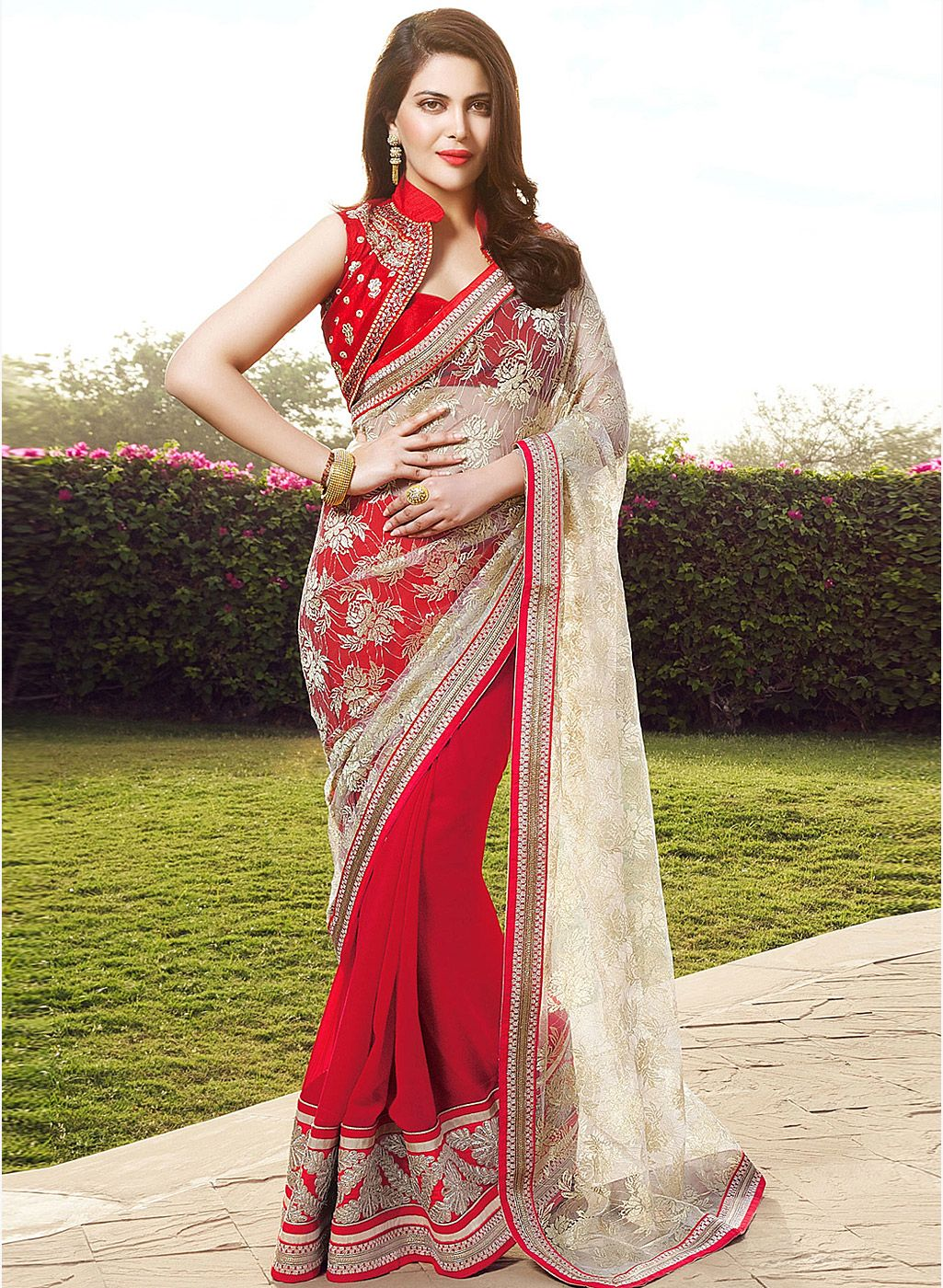 Off saree model images i like this do you think i should buy it  indian sarees