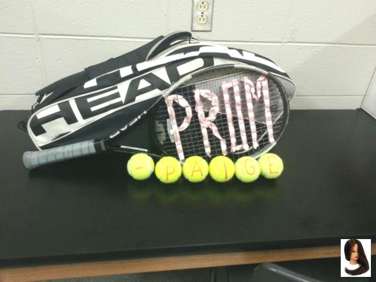 Cute promposal for a tennis player:) #cute #prom #ask #tennis #crafty #promposal #homecomingproposalideas