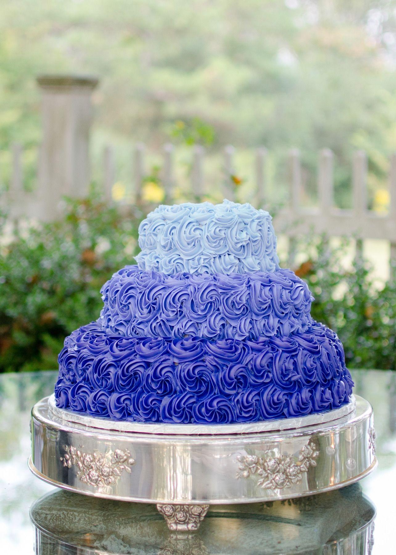 Georgia purple wedding le jardin blanc ombre cake purple cake
