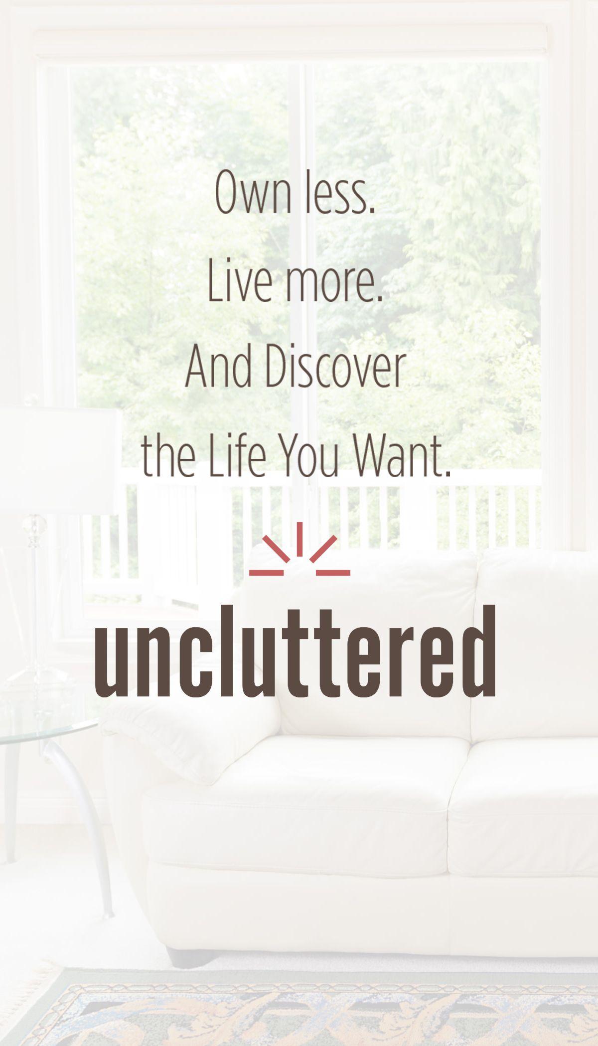Get Uncluttered