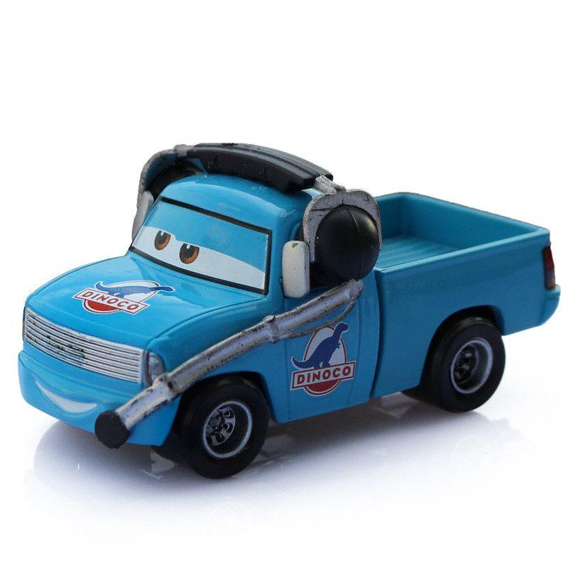 pixar cars diecast metal toy dinoco with headset blue color alloy car model disney