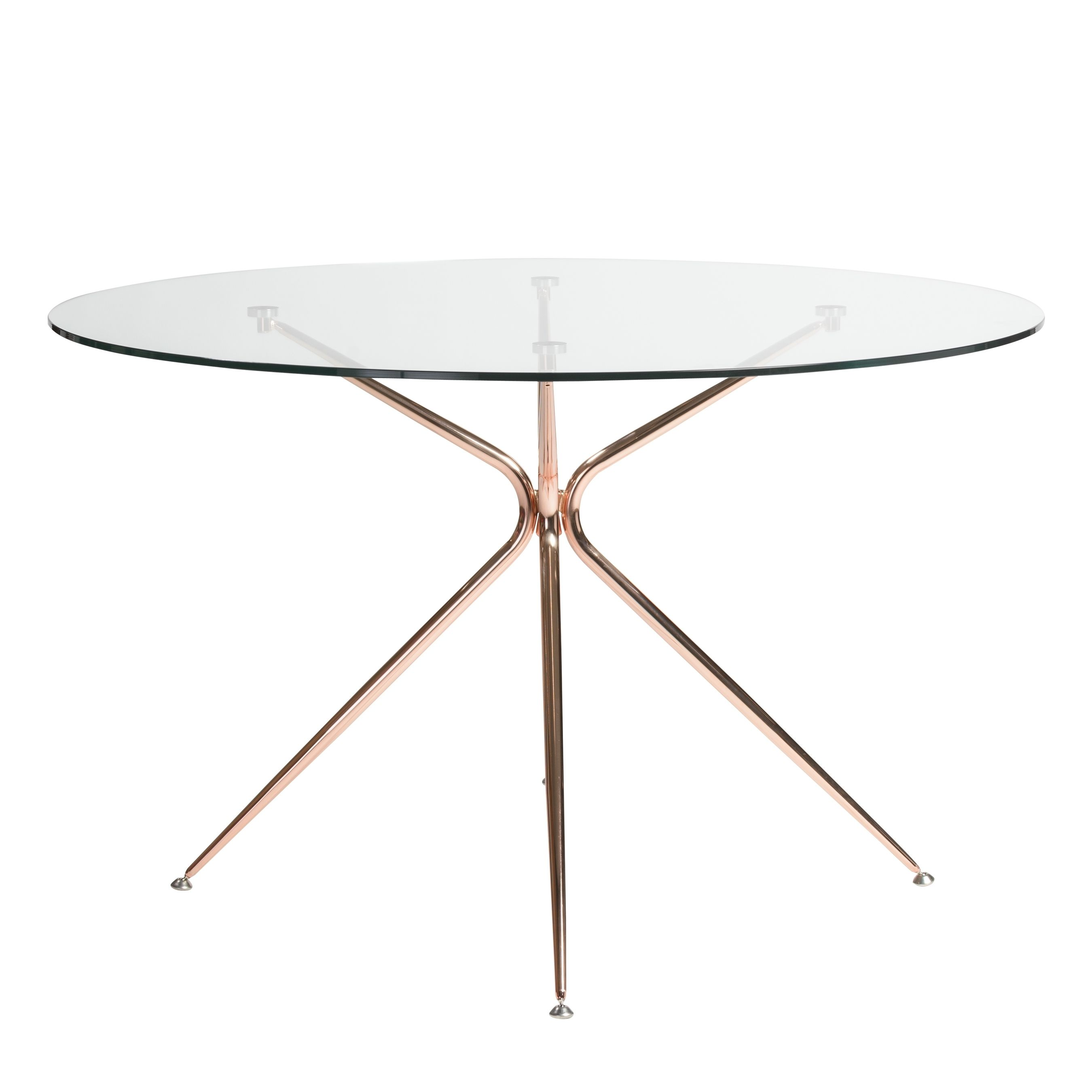 Taya Dining Table Brushed Copper With Images Round Dining