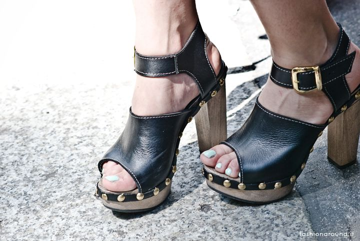 clogs with nails