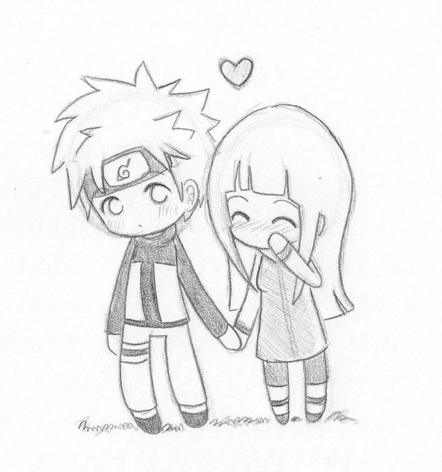 Cute Love Drawings Chibi Naruhina Love By Nowii Drawing With Pencil Drawing Arts And How To Di 2020 Gambar Pasangan Anime Gambar Kartun Gambar Pasangan
