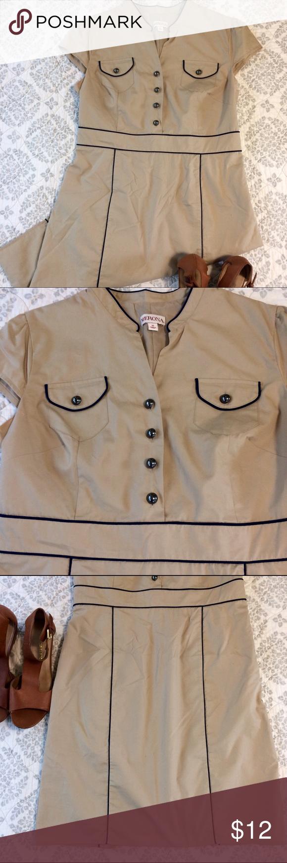 👗Merona Size 12 Short Sleeve Dress EUC
