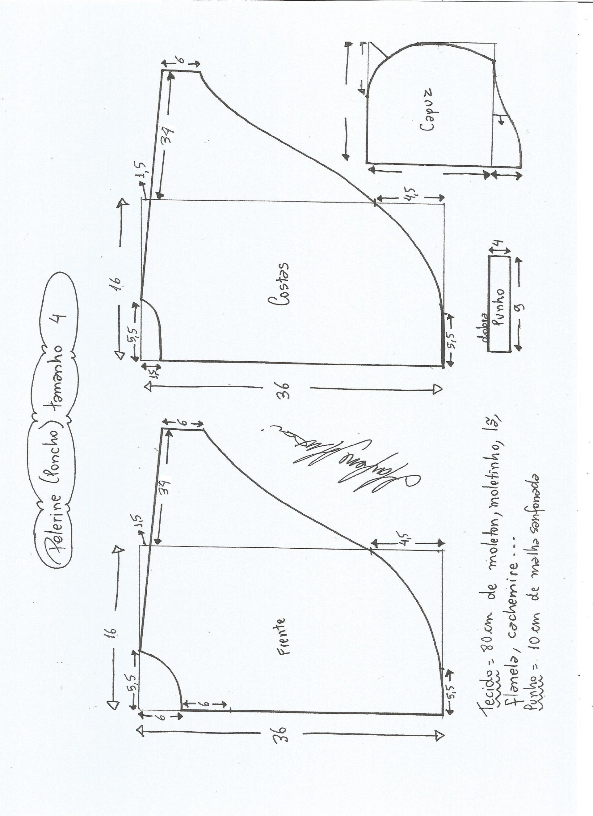 Patrón de poncho para niños | Tip de costura 2 | Pinterest | Ponchos