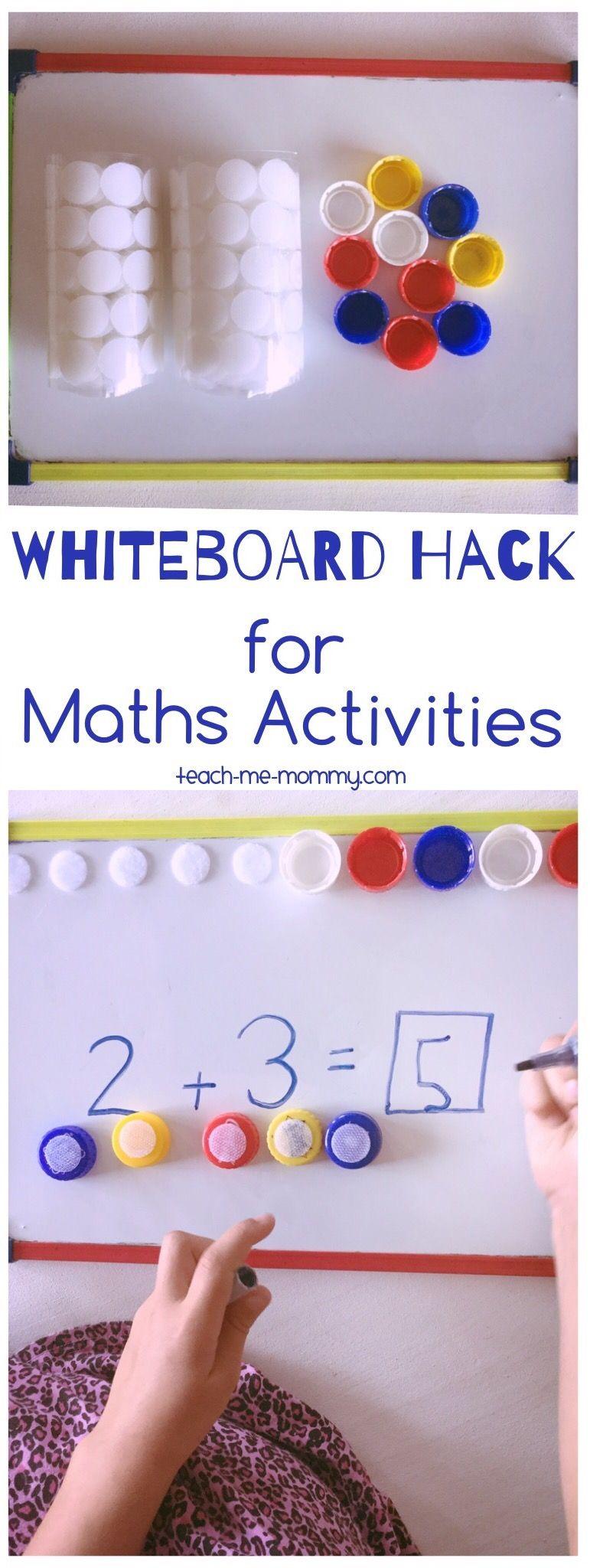 Whiteboard Hack for Maths Activities Math activities