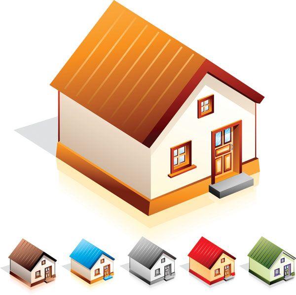小さな家のアイコンのベクター素材 小さな家 家 ハウス