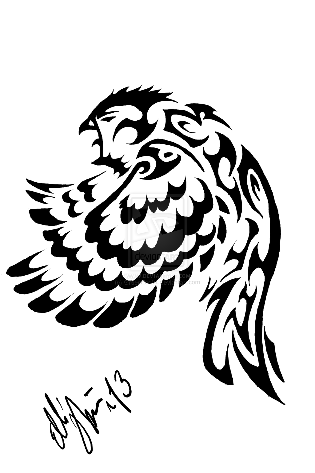 tribal Owl Tattoo   Tribal owl tattoo desing by GreenEco94. tribal Owl Tattoo   Tribal owl tattoo desing by GreenEco94   owl