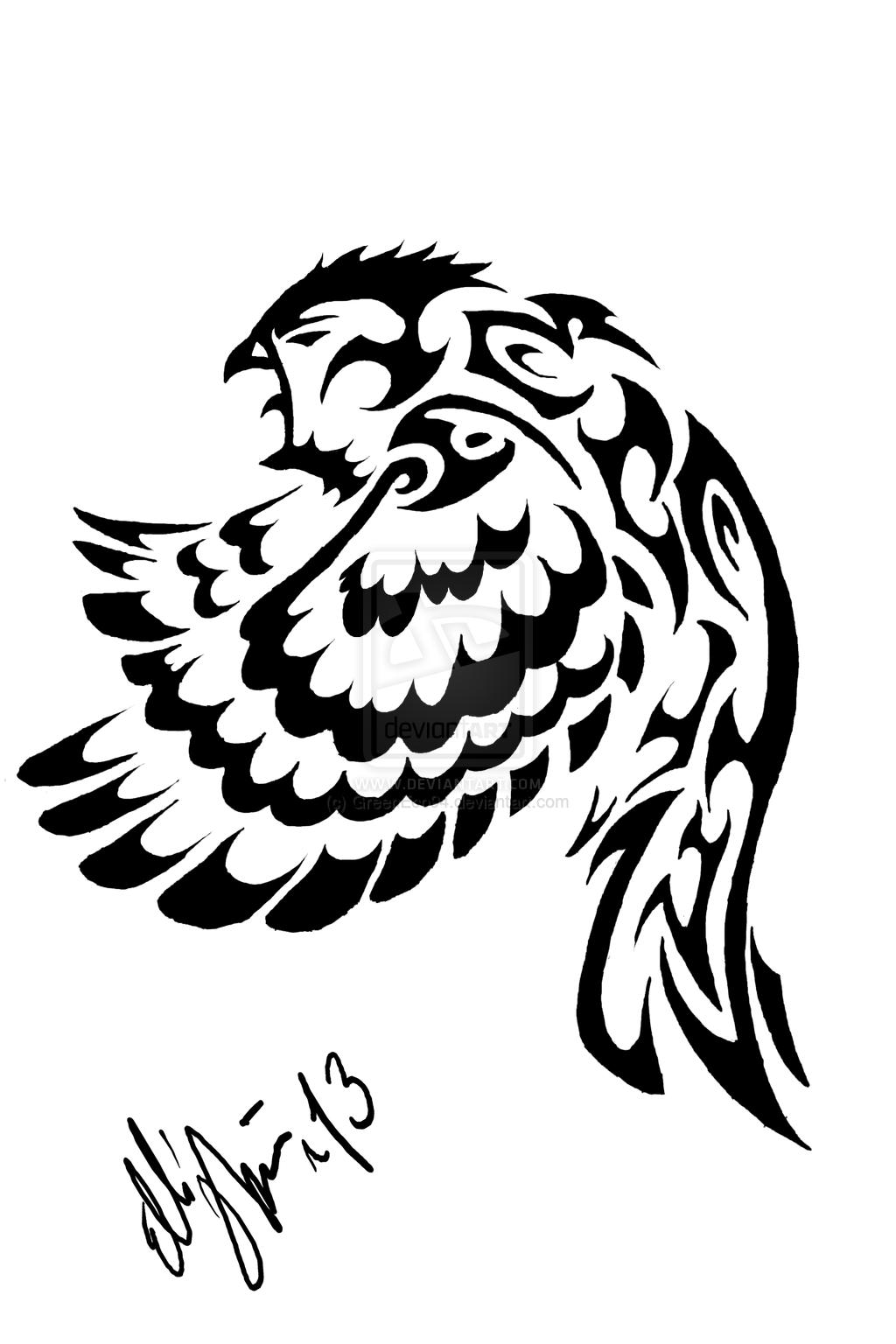 Tribal Owl Tattoo Tribal Owl Tattoo Desing By Greeneco94 Owl