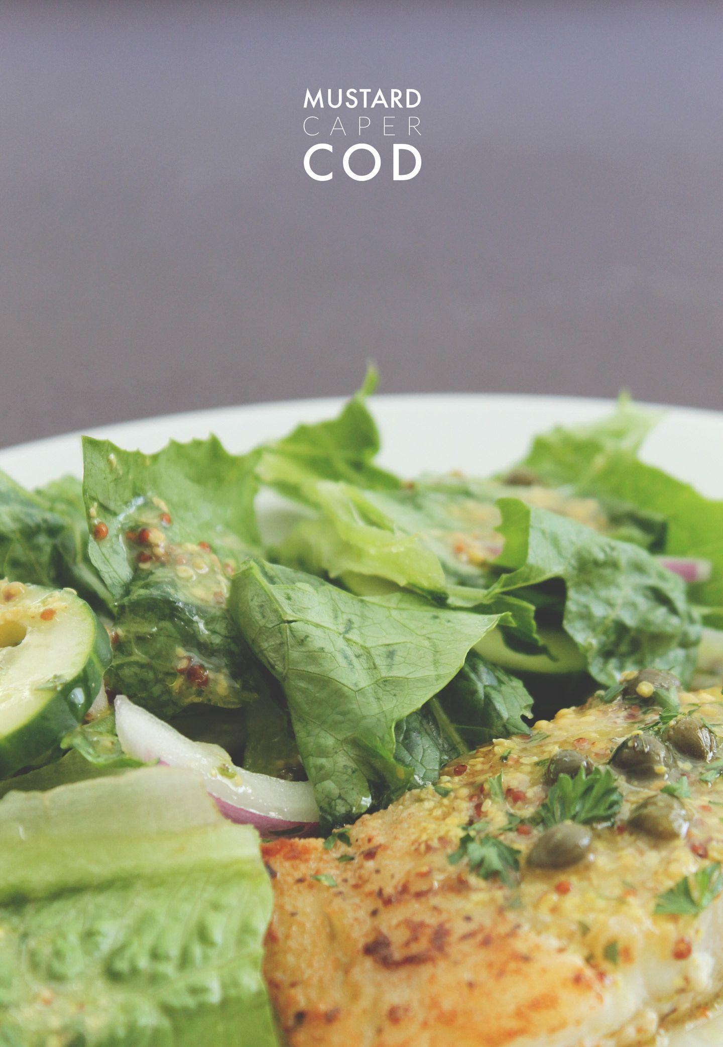 mustard caper cod recipe