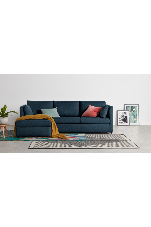 Made Arctic Blue Corner Sofa Bed