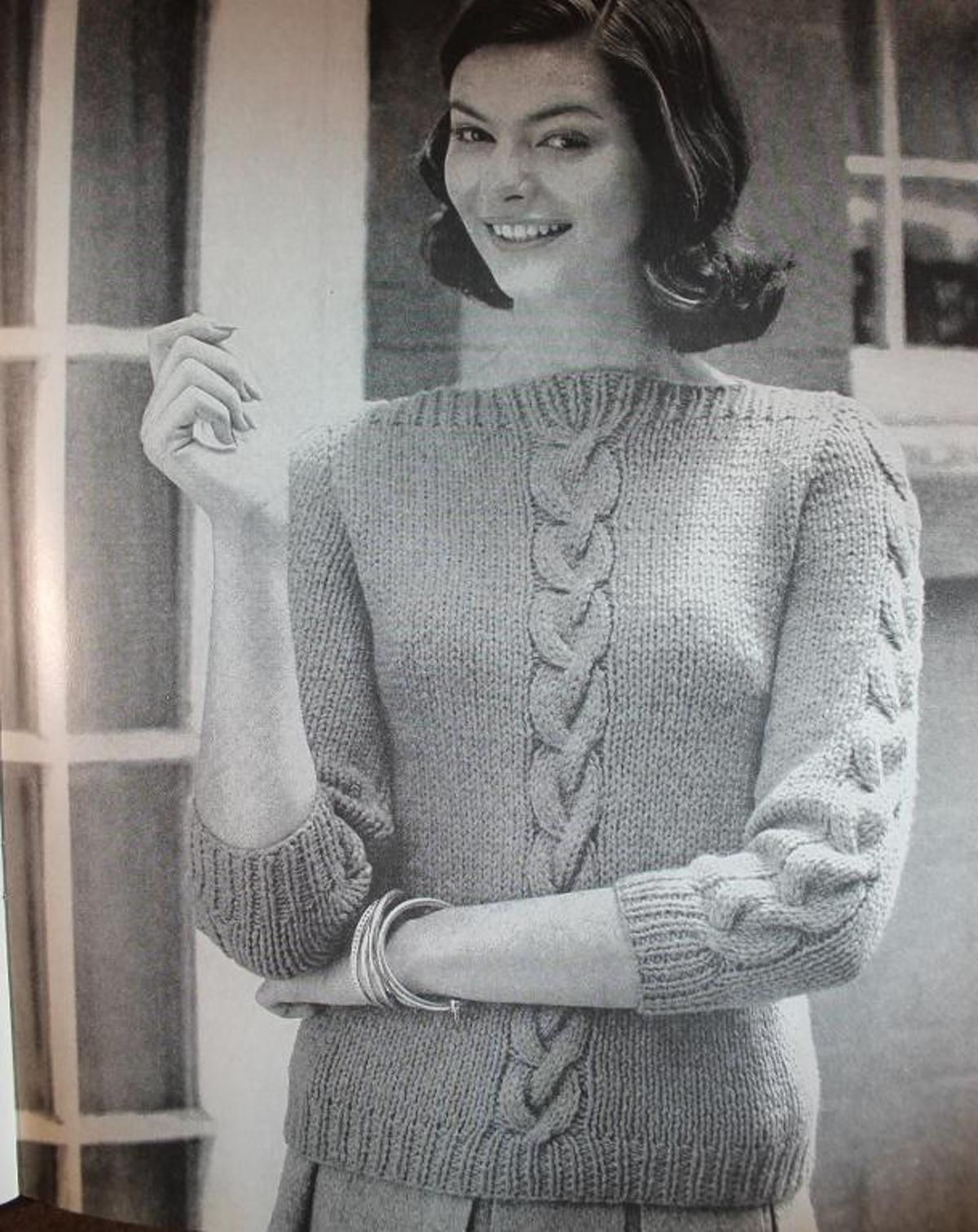 Vintage Cabled Boatneck Sweater 1960\'s | Cable, Vintage and 1960s