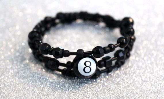 Magic 8 Ball memory wire bracelet by allanamphotography on Etsy, £3.90