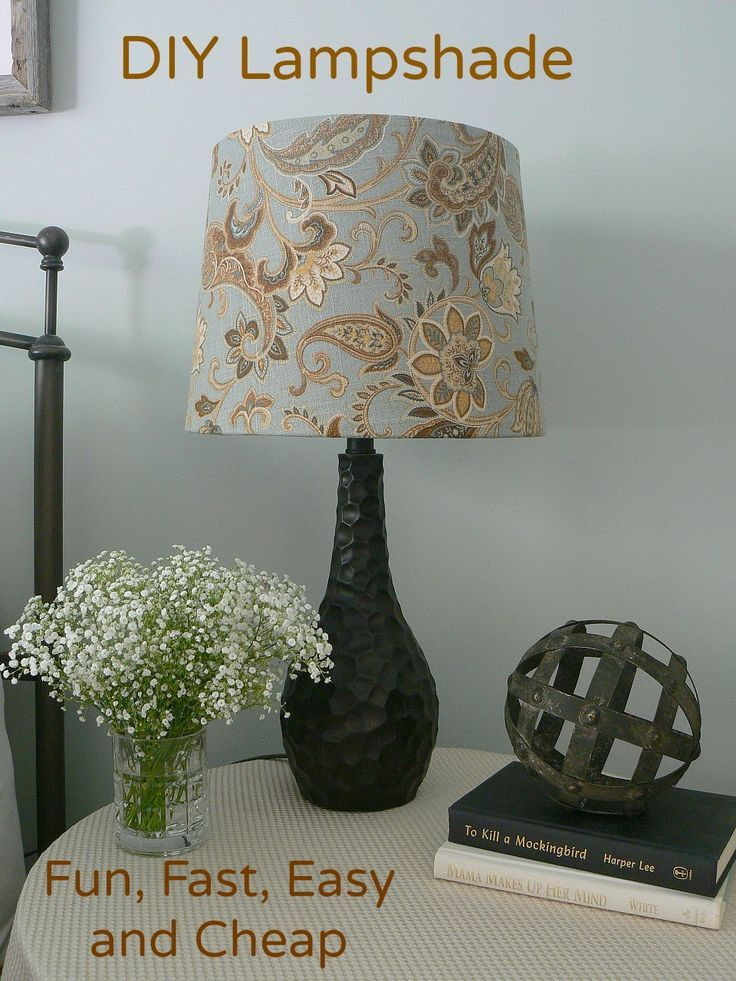diy lampshade was super easy
