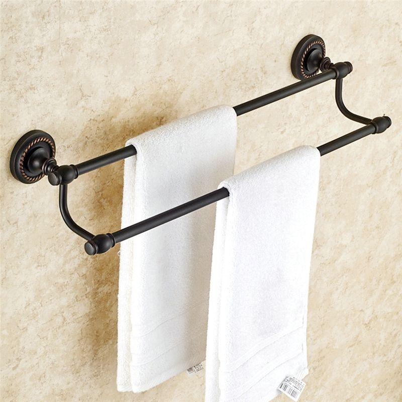 Towel Rack For Bathroom Oil Rubbed Bronze Craft Black Retro