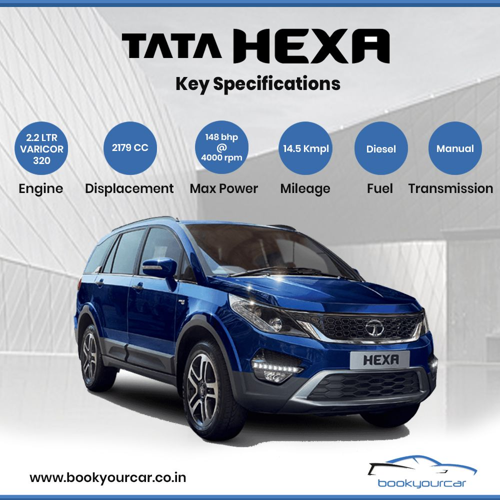 Get To Know The Key Specifications Of Tata Hexa Only On Book Your Car The Utility Vehicle Introduced By Tata Motors Tata Cars Car Tata