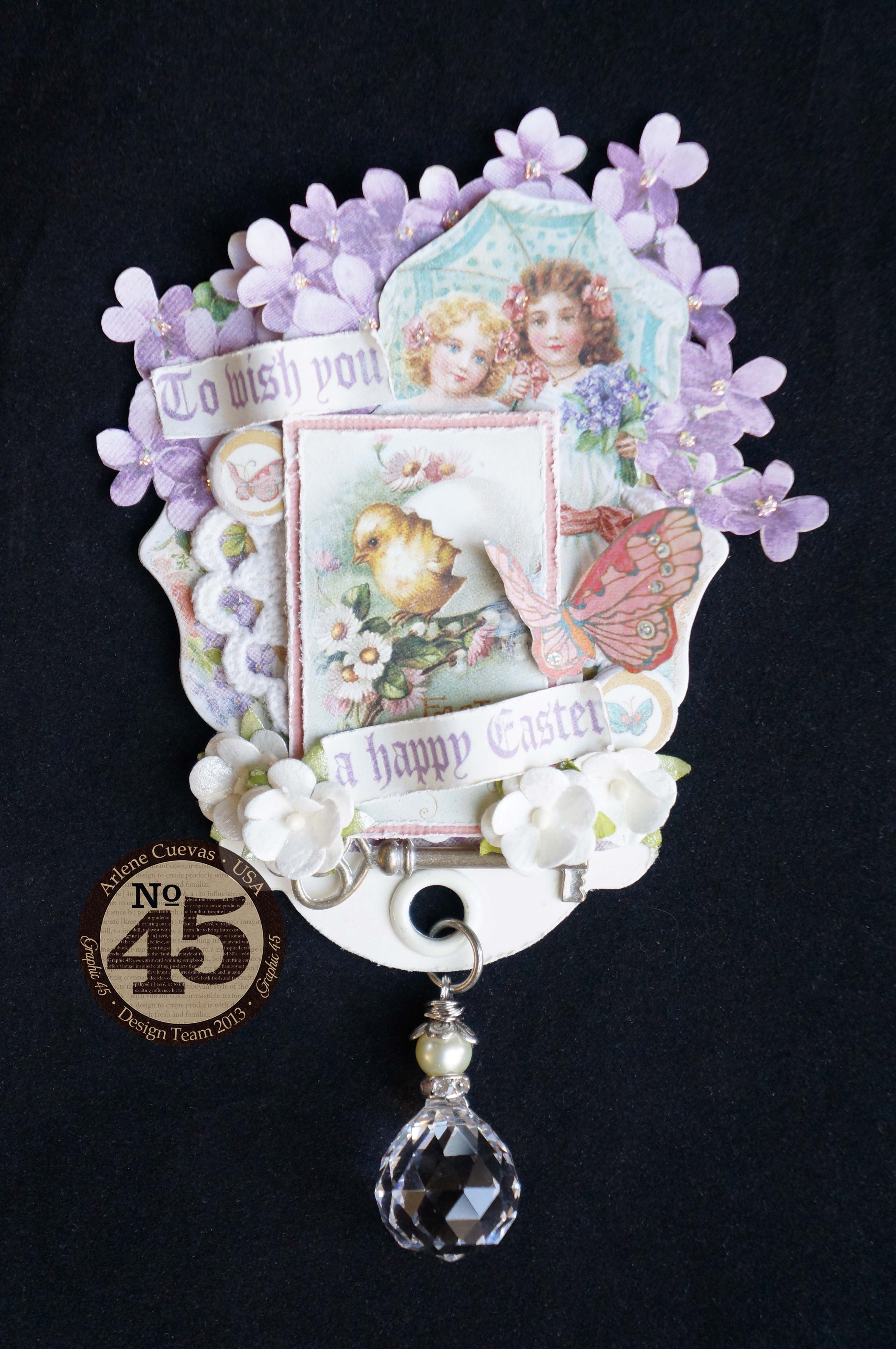 Easter ATC Tag featuring Sweet Sentiments by Graphic 45.